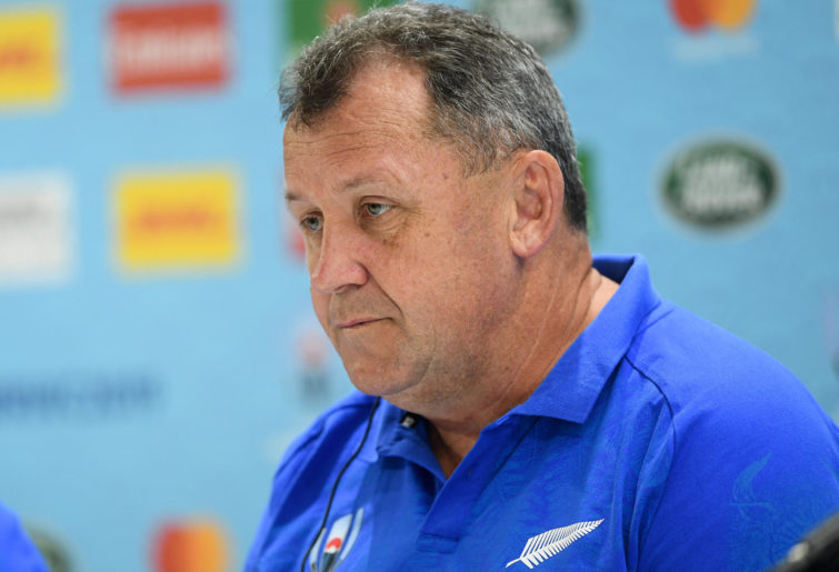 Ian Foster during a New Zealand All Blacks press conference