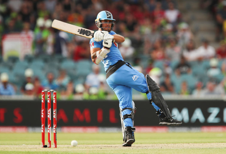 Jake Weatherald of the Strikers bats during the Big Bash League