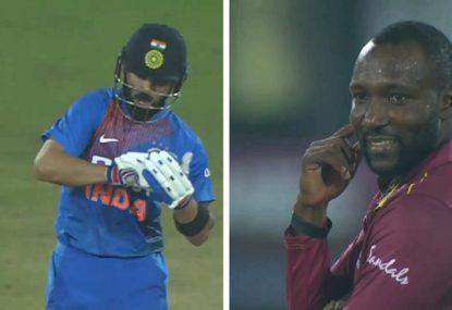 Virat Kohli uses West Indies paceman's own celebration against him