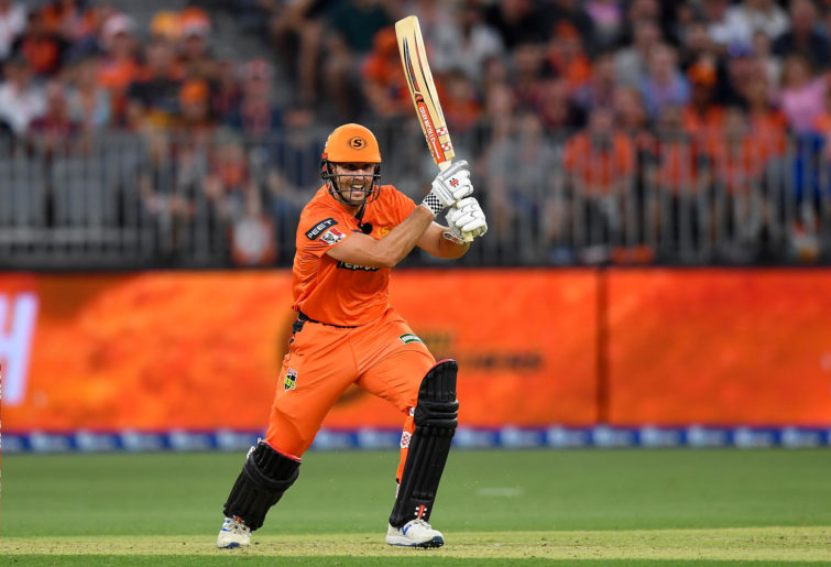 Mitch Marsh of the Scorchers bats during the Big Bash League