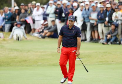 US star Patrick Reed's caddie in Presidents Cup fan fight