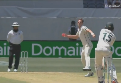 Tim Southee throws away the Mr Nice Guy tag in the opening session