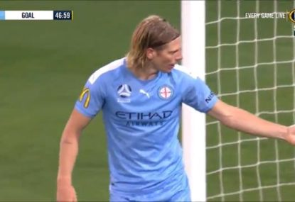 Unlucky own goal sums up horror night for Melbourne City