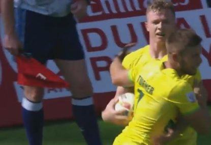 Aussies remain perfect at Dubai Sevens as tournament favourites suffer historic early exit