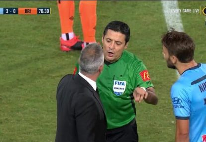 Andy Harper blasts ref after Ninkovic is booked for a rarely seen reason