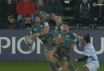 Ospreys fullback red carded just 37 seconds into match