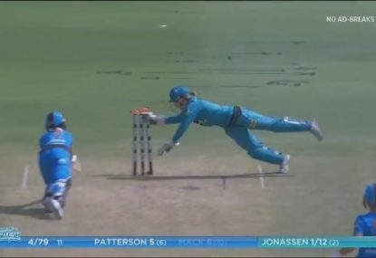 Beth Mooney pulls off great diving stumping as Heat take control