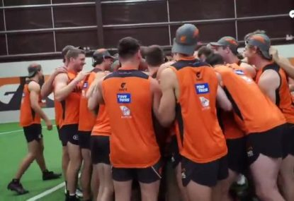 The moment GWS players found out Lachie Whitfield had re-signed