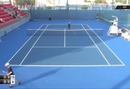 Ukraine tennis player loses every point in bizarre tournament match