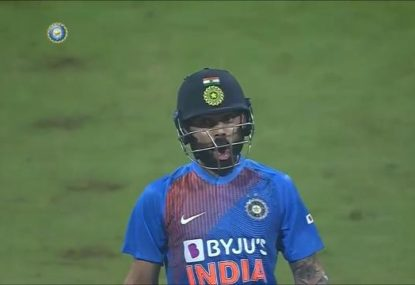 Virat Kohli trolls WI paceman after clubbing him into the stands