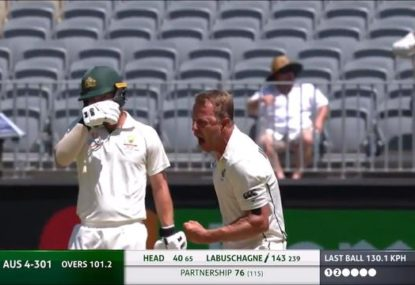 NZ quick goes berserk after bowling Marnus Labuschagne around his legs