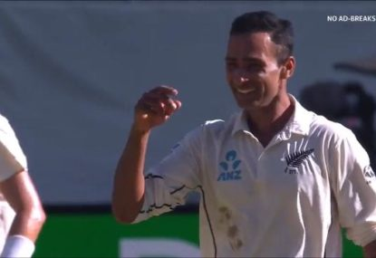 Kiwi part-time leggie's first Test wicket earns Kerry O'Keeffe's praise