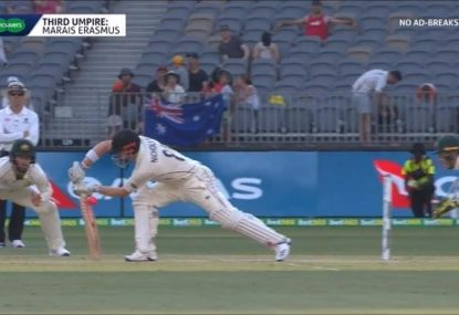 NZ batsman bizarrely caught off the back of the bat