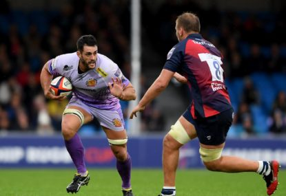 Ex-Waratah Dave Dennis is hunting 'the double' with the Exeter Chiefs this season