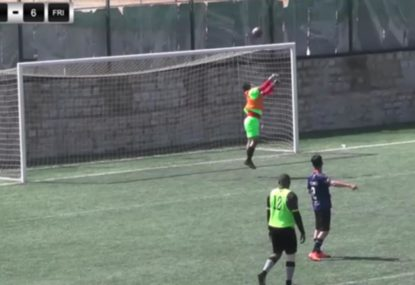Keeper's spectacular blunder is so bad it's actually hilarious
