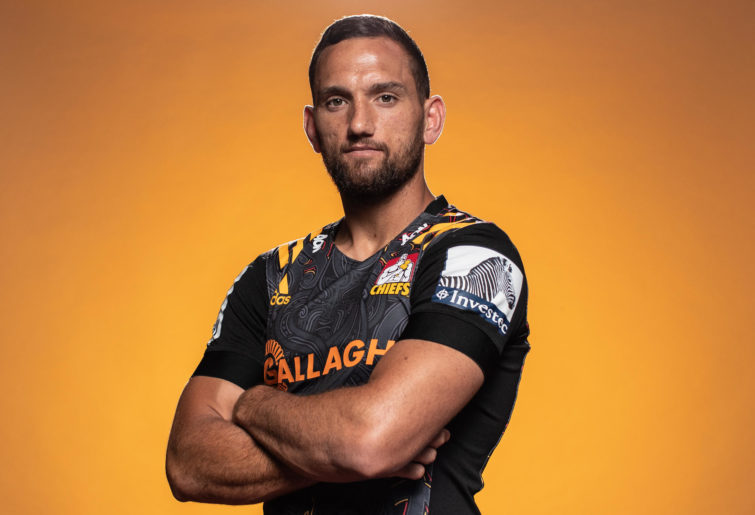 Aaron Cruden poses during the Chiefs 2020 Super Rugby headshots