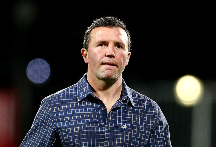 Aaron Mauger, head coach of the Highlanders