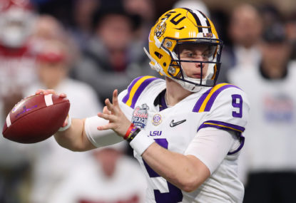 Joe Burrow will be the best QB from this draft