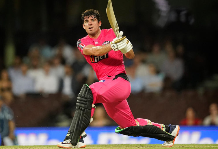 Moises Henriques of the Sixers bats during the Big Bash League