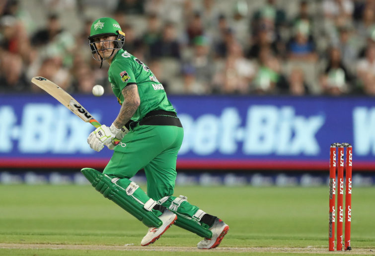 Nic Maddinson of the Stars bats during the Big Bash League