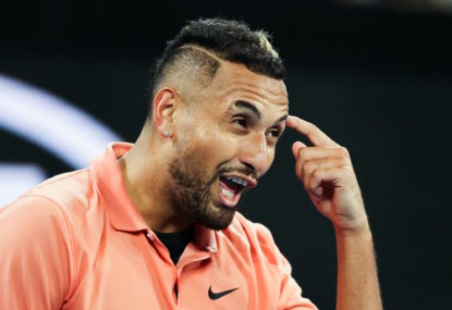 When did Nick Kyrgios become tennis' voice of reason?