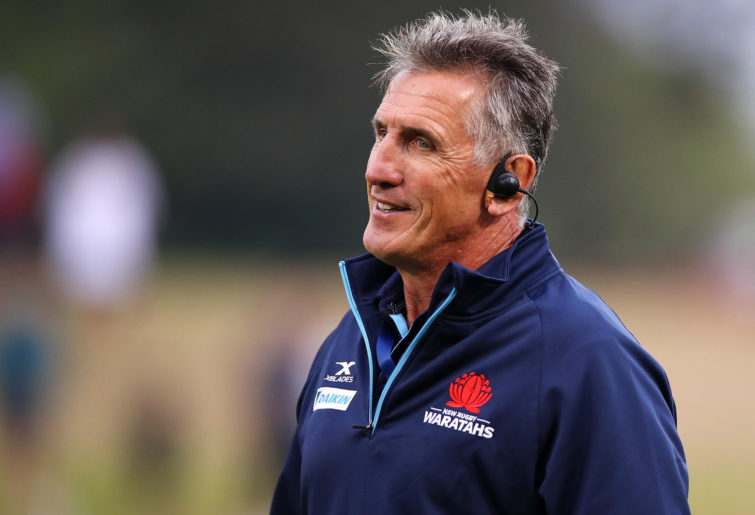 Waratahs coach Rob Penney is seen during the warm-up