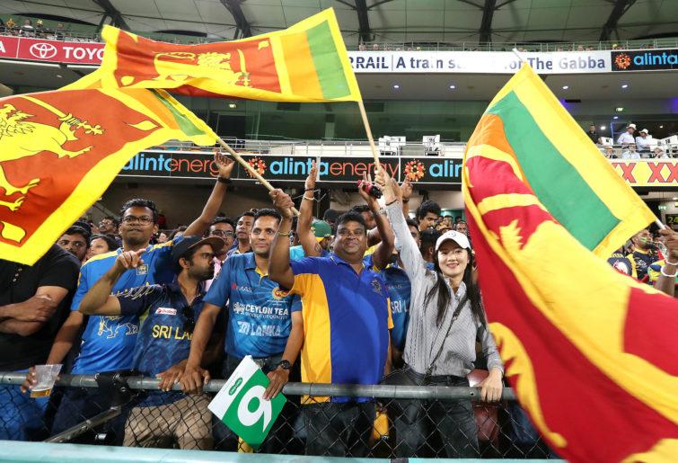 Sri Lankan fans.
