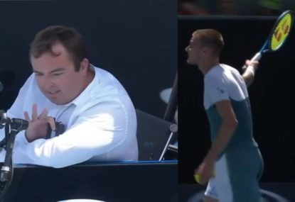 You won't see a worse umpire overrule than this at the Australian Open