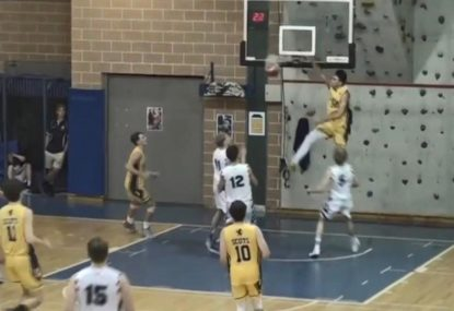 Steal leads to big slam on the fast break