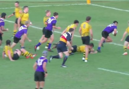 Big unit slips through certain tackle for unlikely meat pie