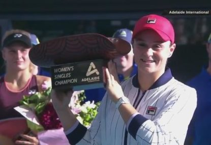 Ash Barty wins first home WTA title - then gets proposed to by a fan