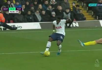 So agonisingly close! Tottenham denied matchwinner by millimetres