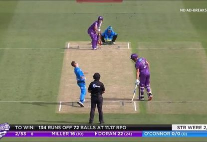 Strikers spinner somehow gets away with the worst legal ball of BBL09