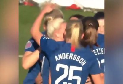 Sam Kerr nets first goal for Chelsea FC