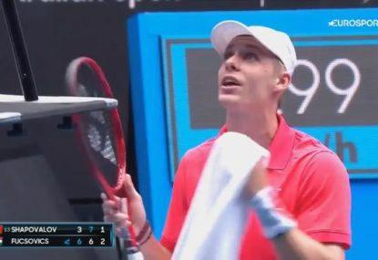 'It's a terrible call': Denis Shapovalov has meltdown on Day 1 of Australian Open