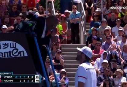 Reilly Opelka loses his cool with the umpire in expletive filled rant