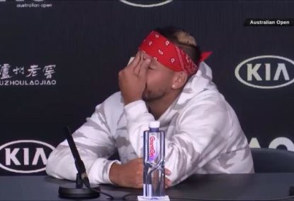 'Oh my God': Nick Kyrgios roasts journo for press conference question