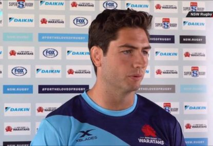 Rob Simmons speaks after being unveiled as Waratahs captain