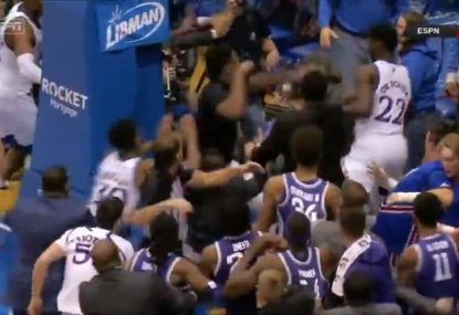 College game goes viral after monstrous all-in brawl erupts