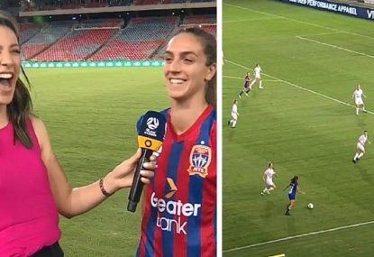 W-League player's hilarious interview gaffe after scoring freakish accidental goal