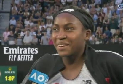 Coco Gauff is too nervous to ask Rod Laver for a selfie