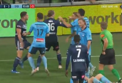 A fiery end to Sydney FC's win over Melbourne Victory