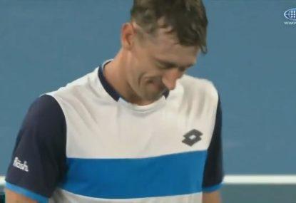 Heartbreak for Aussie John Millman in his five-set thriller with Roger Federer