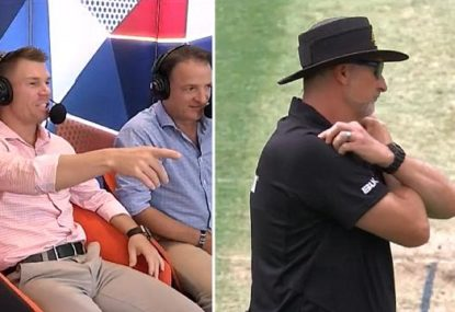 David Warner shocked as umpire incorrectly calls a wide- then changes his mind