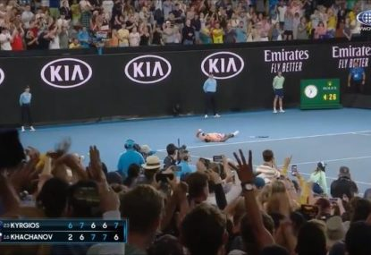 Watch the highlights from Nick Kyrgios' epic 5-set, 4-hour triumph over Karen Khachanov
