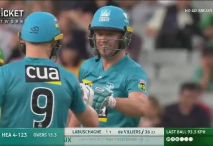 The moment the Big Bash has been waiting for as AB de Villiers lights up MCG