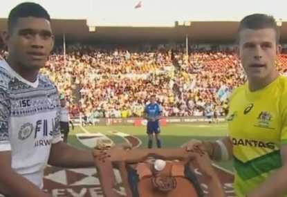 Fiji's touching gesture to Australia at the Hamilton Sevens