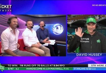 Stars coach David Hussey costs himself $2000 fine with bizarre admission during TV interview