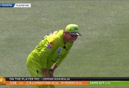 'You are a tosser': Usman Khawaja cops cheeky sledge from Brad Hodge