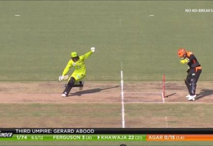 'Oh, s--t!' Usman Khawaja run out- or was he stumped?- in seriously strange moment